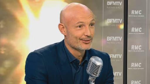 Frank Leboeuf sur le plateau de BFMTV, le 20 novembre 2013