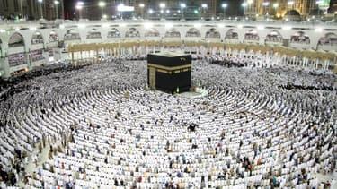 La Kaaba, au sein de la Grande Mosquée.
