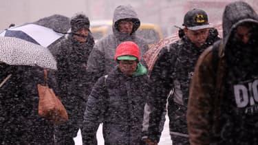 Une vague de froid persistait à New York, le 5 mars 2015.