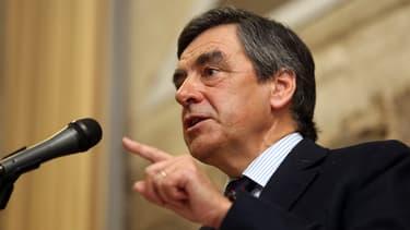 François Fillon le 6 mars lors d'un meeting à Bordeaux.