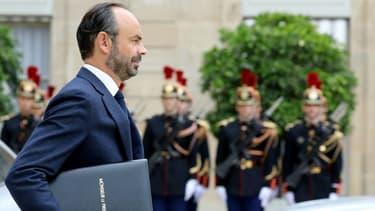 Edouard Philippe quittant le palais de l'Elysée le 11 octobre 2017.