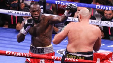 Deontay Wilder face à Tyson Fury, à Las Vegas le 9 octobre 2021