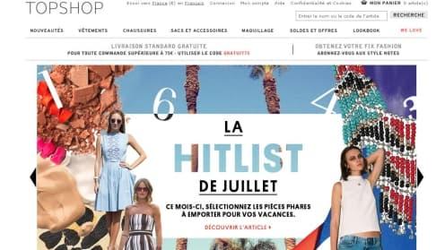 Top Shop pourrait s'installer à Paris