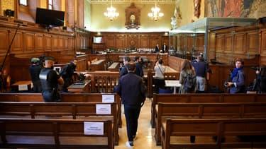 La salle du tribunal de grande instance de Paris où Abdelkader Merah a été jugé.