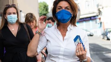 Martine Vassal, à la sortie du bureau de vote.
