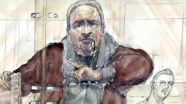 Le terroriste vénézuélien Ilich Ramirez Sanchez, alias Carlos, lors de son procès en première instance le 15 décembre 2011.