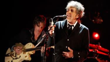 Bob Dylan sur scène à Los Angeles, le 12 janvier 2012.