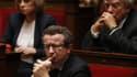 Christian Paul, l'un des socialistes frondeurs, mardi à l'Assemblée nationale.