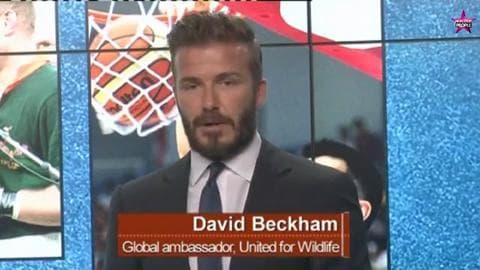 David Beckham s'engage avec le Prince William