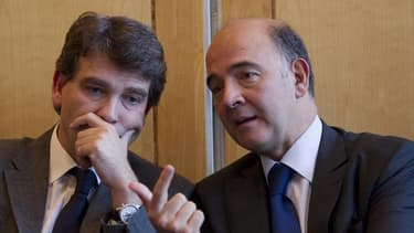 Les spéculations sur un prochain remaniement ministériel se multiplient en France avec Bercy en plat de résistance, le grand écart idéologique du tandem Pierre Moscovici-Arnaud Montebourg ayant atteint ses limites, selon certains proches du pouvoir. /Phot