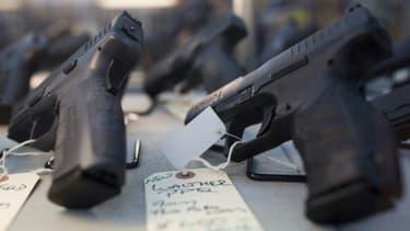 Photo d'armes à feu prise le 5 novembre 2016 dans le New Hampshire aux Etats-Unis. (Photo d'illustration)
