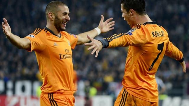Karim Benzema et Cristiano Ronaldo