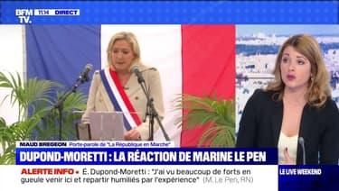 Dupond-Moretti : la réaction de Marine Le Pen - 08/05