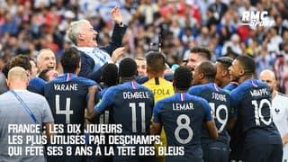 France : Les dix joueurs les plus utilisés par Deschamps, qui fête ses 8 ans à la tête des Bleus