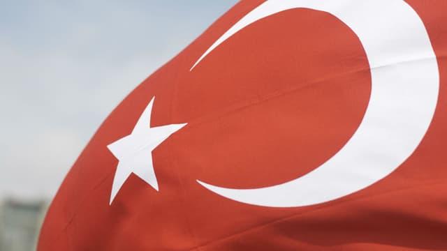 Le drapeau de la Turquie. Photo d'illustration