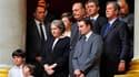 Jacques Chirac (au centre) s'est rendu à l'Assemblée nationale pour assister à l'hommage rendu à l'ancien ministre Henri Cuq, qui fut l'un de ses proches. L'ancien président avait pris place dans les tribunes d'honneur avec la famille du défunt et était n