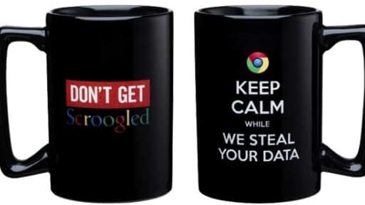 Les mugs anti-Google vendus par le groupe de Steve Ballmer.