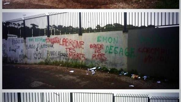 Des tags insultants sur les murs du centre d'entraînement de l'OM