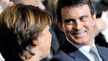 Martine Aubry et Manuel Valls ont multiplié les sourires jeudi soir à Lille.