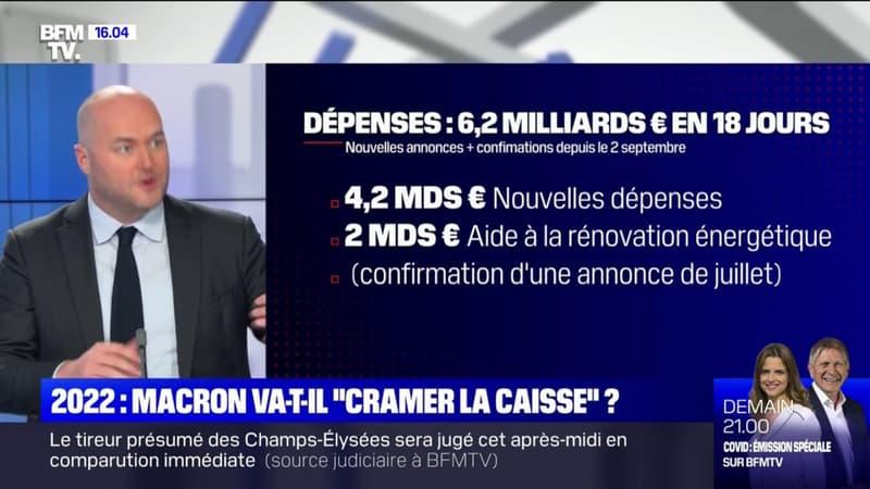 """2022: Emmanuel Macron va-t-il """"cramer la caisse """" ?"""