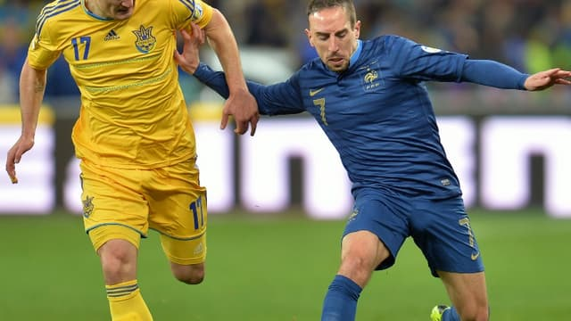 Frank Ribéry face à l'Ukraine