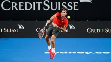 Roger Federer, à Sydney le 12 janvier 2015