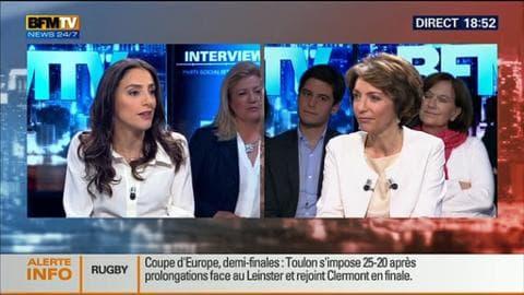 """Marisol Touraine face à Anna Cabana dans BFM Politique: """"Le pari a été tenu durant mes trois ans au sein du gouvernement"""""""