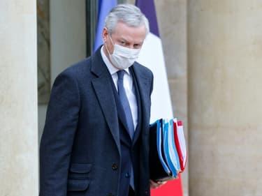 Le ministre de l'Economie Bruno Le Maire, à l'Elysée le 27 janvier 2021