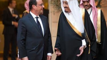 François Hollande et Salmane Ben Abdel Aziz sont en passe de signer l'accord.