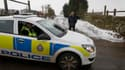 Inspection de la police britannique dans un abattoir de Todmorden, dans le nord de l'Angleterre. La police et les autorités sanitaires britanniques ont effectué mardi une série de perquisitions dans les locaux d'entreprises soupçonnées de faire passer de