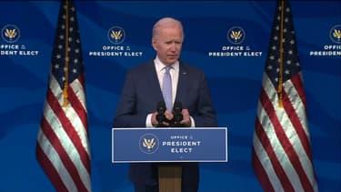 Joe Biden le 6 janvier 2021