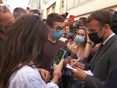 Emmanuel Macron à Valence (Drôme) le 8 juin 2021