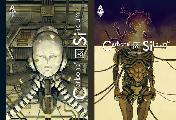 """Les couvertures des deux éditions de """"Carbone et Silicium"""" de Mathieu Bablet"""