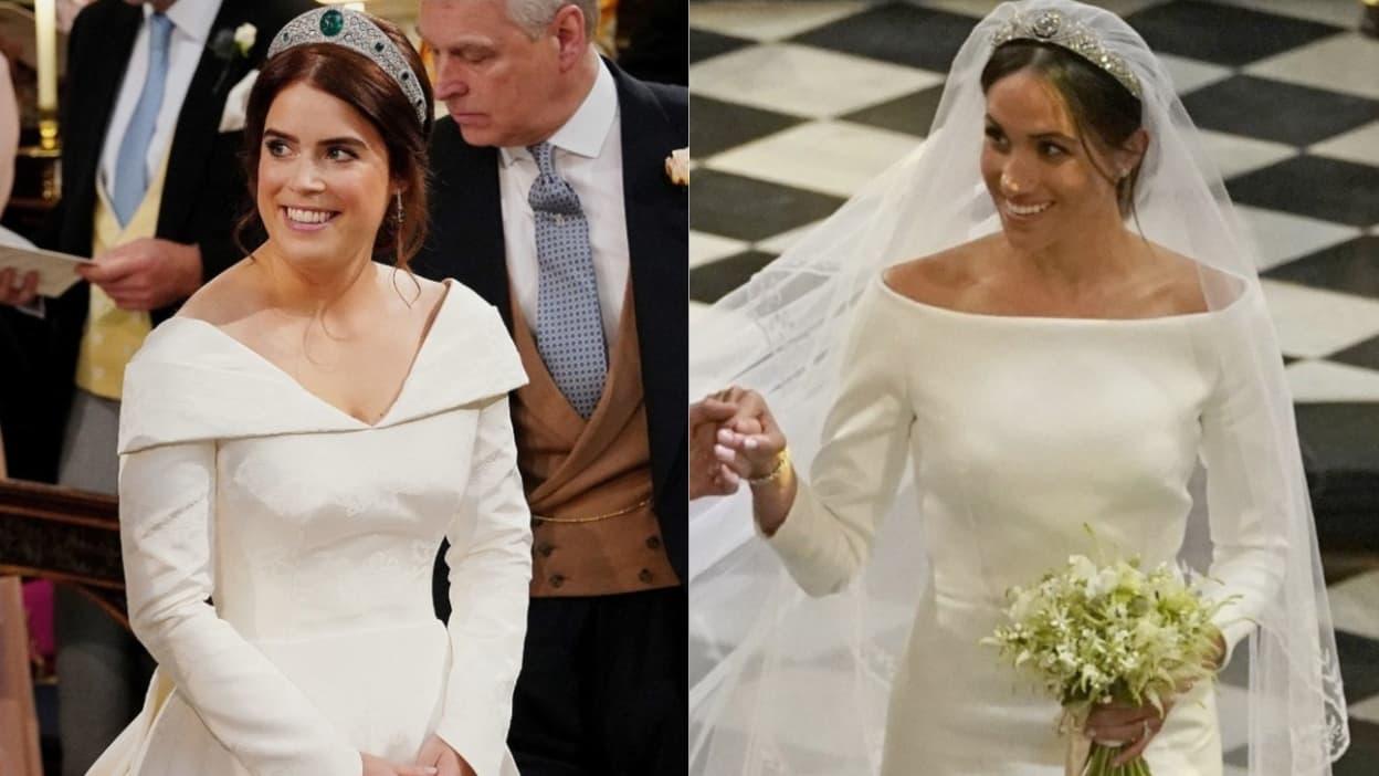 robe de mariée de princesse Eugénie et Meghan Markle