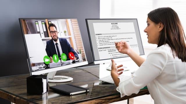 Entretien d'embauche : comment réussir un rendez-vous en visio ?