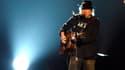 Neil Young sur scène à Los Angeles.