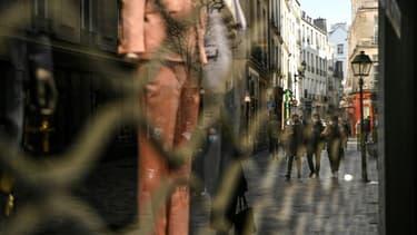 Commerces fermés à Paris, le 20 mars 2021, en raison de nouvelles restrictions