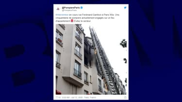 Le feu est maîtrisé, ont annoncé les pompiers