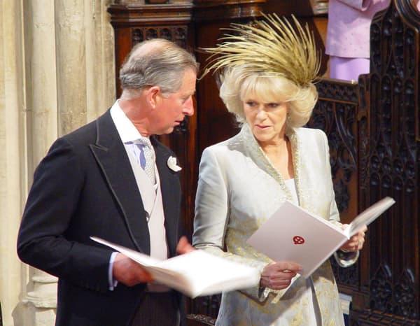 Charles & Camilla, lors de leur mariage, le 9 avril 2005