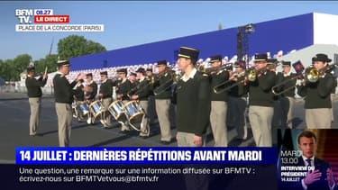 14-Juillet: les images des dernières répétitions de la cérémonie militaire place de la Concorde à Paris