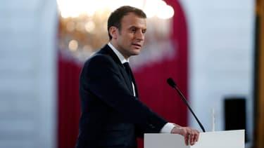 Emmanuel Macron, le 16 février 2018.