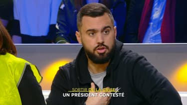 Eric Drouet, sur le plateau de BFMTV, le 3 décembre.