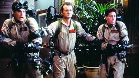"Bill Murray, Dan Akroyd et Rick Moranis, dans ""Ghostbusters"" en 1984."