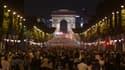 La joie des Français sur les Champs-Elysées après la demi-finale.