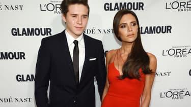 Brooklyn et Victoria Beckham en novembre 2015