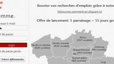 Le site belge propose d'envoyer vos CV à votre place