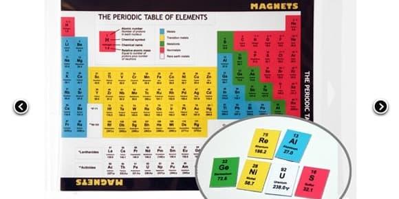 Ce tableau périodique des éléments est à reconstituer sur votre frigo.