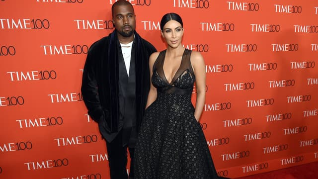 Kanye West et Kim Kardashian en avril 2015 à New York