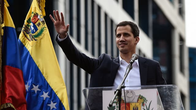Juan Guaido à Caracas ce mercredi 23 janvier.