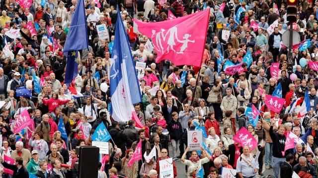 La Manif pour tous a revendiqué la présence de 500.000 personnes dans son cortège parisien.